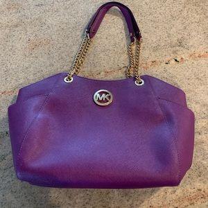 Michael Kors Purple Shoulder Handbag